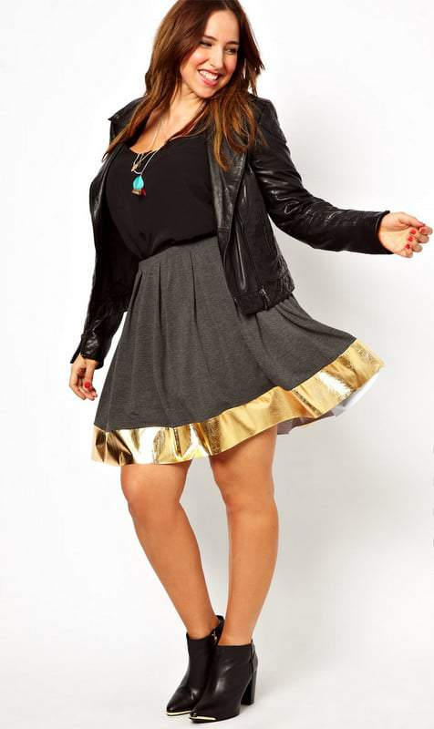 97cd55baffd 10 Plus Size Skater Skirts for Fall Fashion