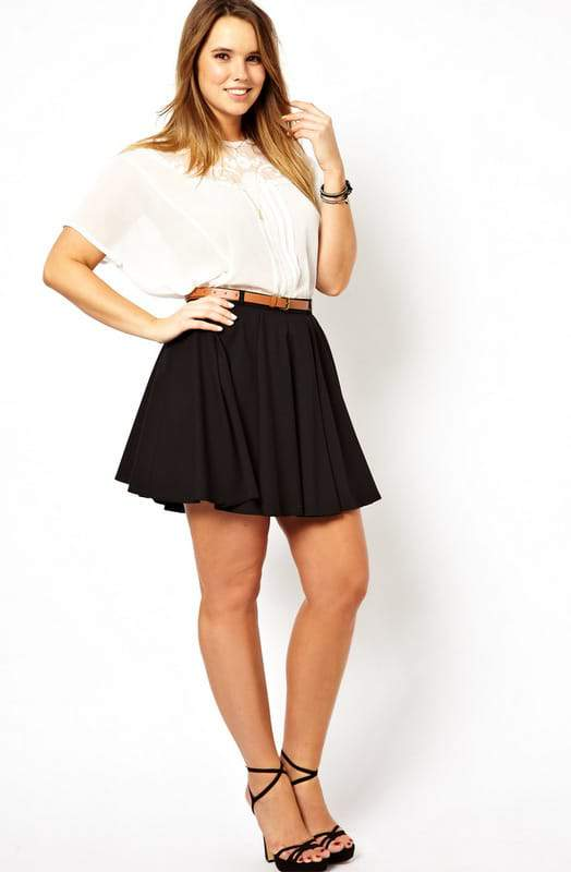 10 Plus Size Skater Skirts For Fall Fashion The Curvy