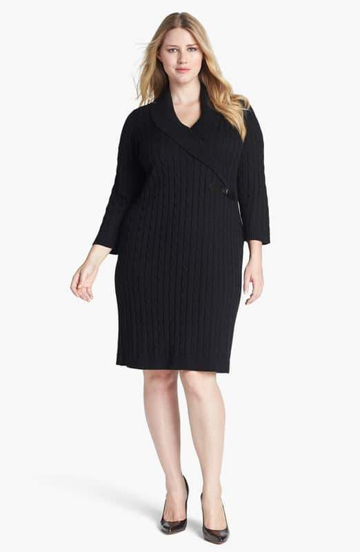 fa1e31b390b 15 Plus Size Sweater Dresses to Keep You Fashionably Warm