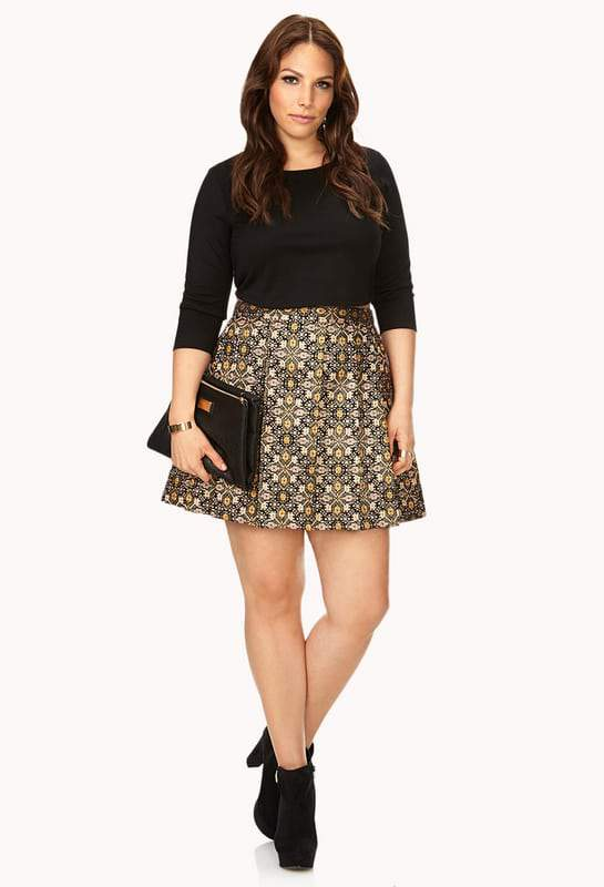 forever-21-plus-size-tapestry-skater-skirt-the-curvy-fashionista