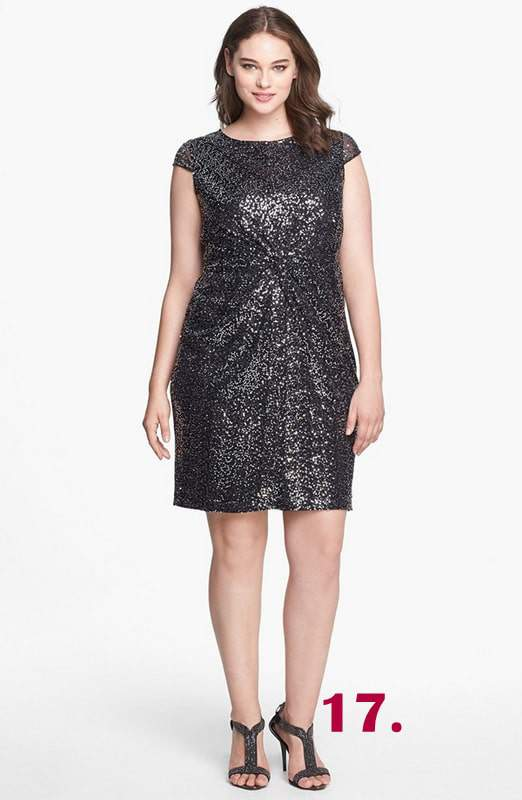 front-knot-sequin-sheath-dress