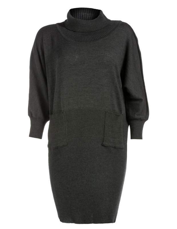 isolde-roth-merino-wool-blend-Plus Size Sweater Dress on The Curvy Fashionista