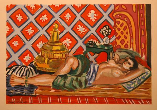 Plus size art on The Curvy Fashionista- odalisque sur fond rouge BY henri matisse