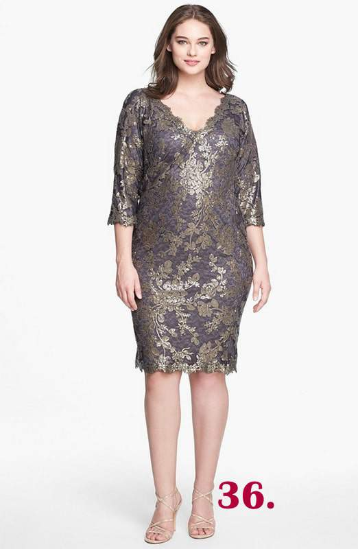 sequin-lace-sheath-dress