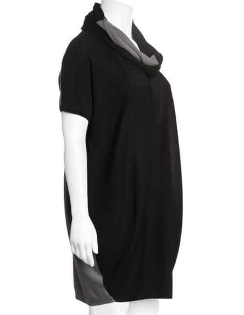 short-sleeved-sweater-with-loop-scarf-Plus Size Sweater Dress on The Curvy Fashionista
