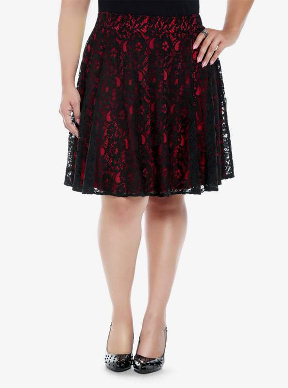 torrid-plus-size-lace-overlay-skater-skirt-the-curvy-fashioinsta