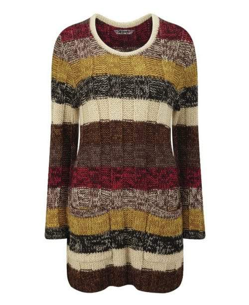 totem-pole-Plus Size Sweater Dress on The Curvy Fashionista