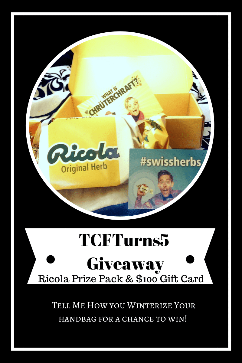 #TCFTurns5 Giveaways: Winterize Your Handbag with Ricola