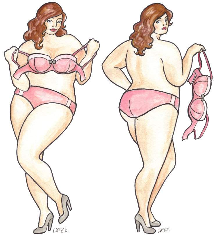 Plus Size Art: Curves Illustrated Plus size art for Breast cancer on The Curvy Fashionista