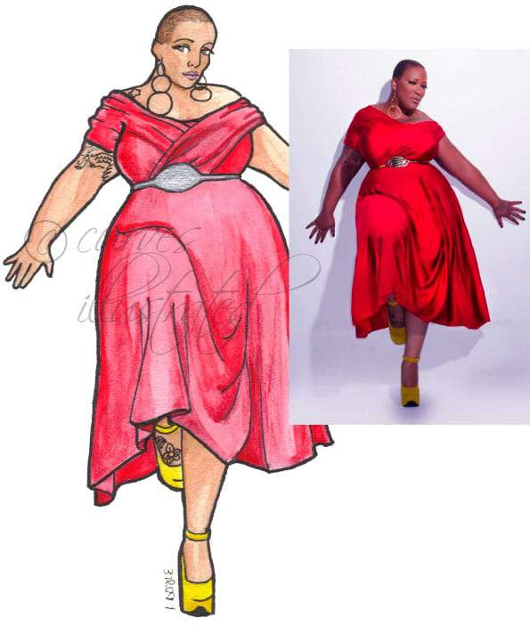 FRENCHIE-DAVIS-Plus Size BRIDAL- Plus Size Art with Curves Illustrated  on The Curvy Fashionista