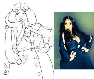 ROSIE Mercado-Plus Size Art with Curves Illustrated on The Curvy Fashionista