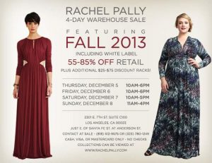 Rachel Pally Warehouse Sale