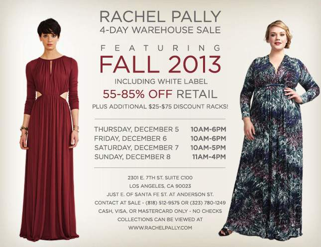 LA SAMPLE SALE: A Rachel Pally Sample Sale and White Label is Included!