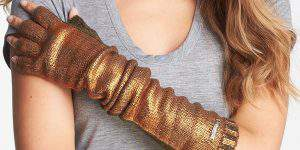foil-print-fingerless-gloves