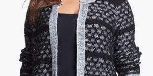 sejour-metallic-stitch-cardigan-Plus Size Cardigans on The Curvy Fashionista