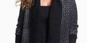 sejour-shawl-collar-open-cardigan-Plus Size Cardigans on The Curvy Fashionista