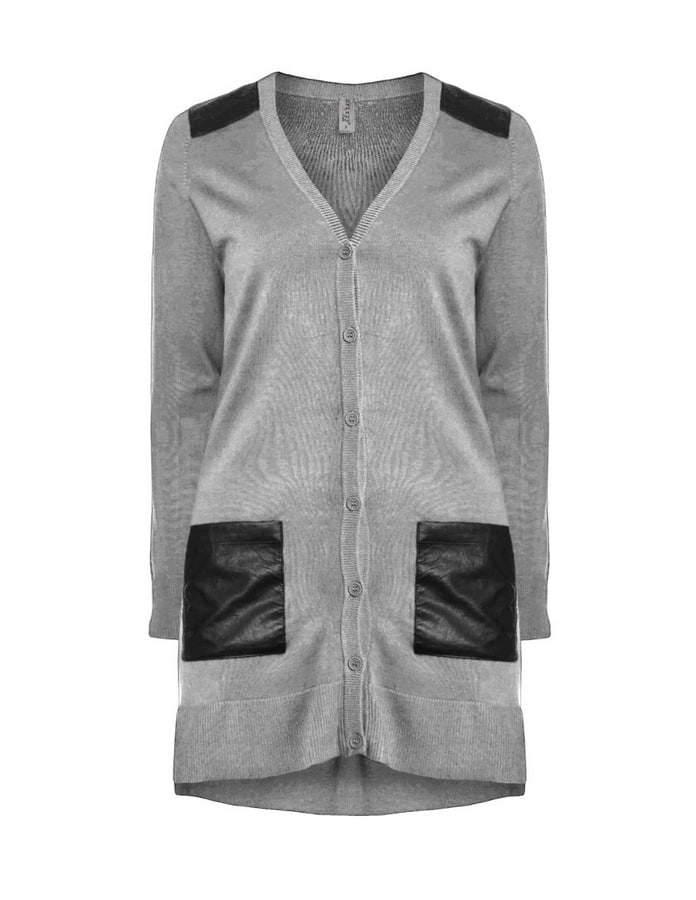 zhenzi-cardigan-with-leather-detailing-Plus Size Cardigans on The Curvy Fashionista