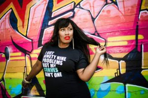 Make a Statement with Plus Size Tee Designer Feminine Funk on The Curvy Fashionista