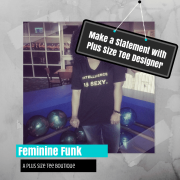 Make a Statement with Plus Size Tee Designer Feminine Funk