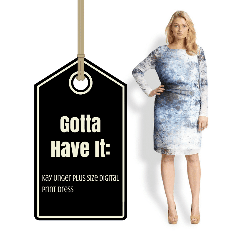 Gotta Have It- This Kay Unger Plus Size Digital Print Dress
