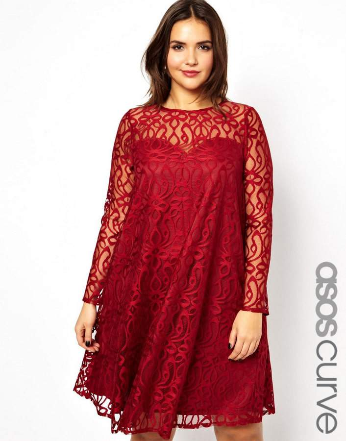 ASOS CURVE Exclusive Swing Dress