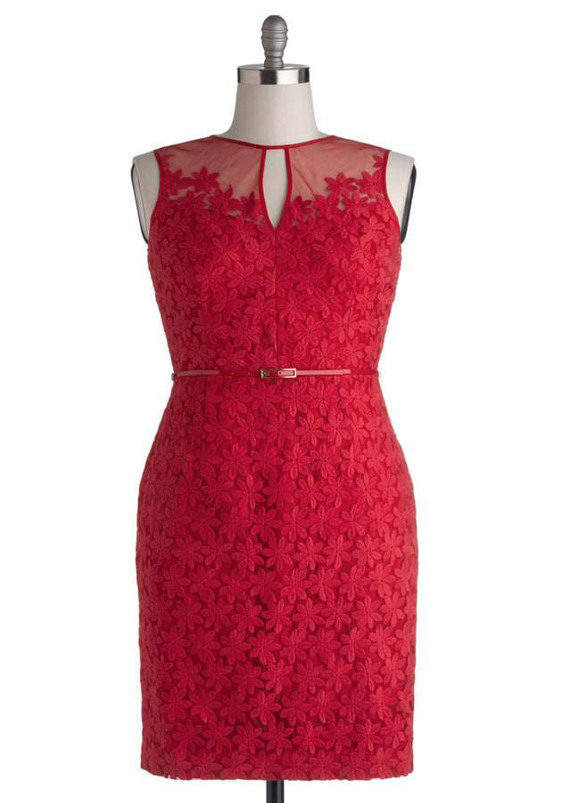 ModCloth Poinsettia Party Dress