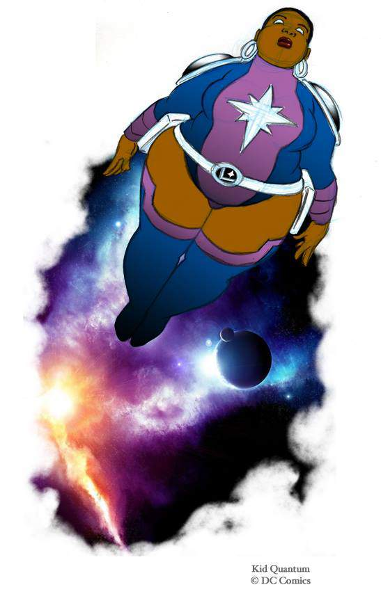 Plus Size Art: The Plus Size Superhero-By Kid Quantum  on The Curvy Fashionista