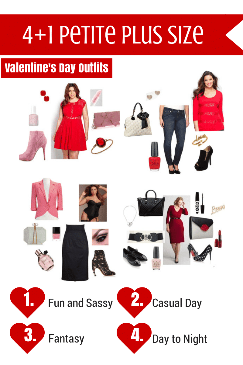 Five Petite Plus Size Valentine's Day Outfit Ideas