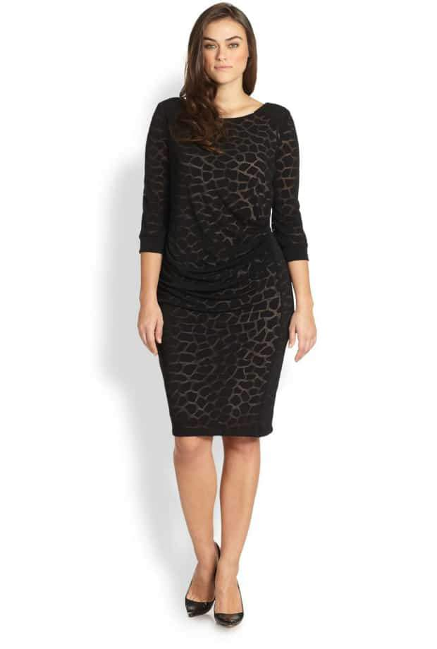 ABS Animal Print Dress in Plus Size on The Curvy Fashionista