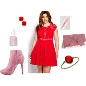 Petite Plus Size Valentine's Day Outfits