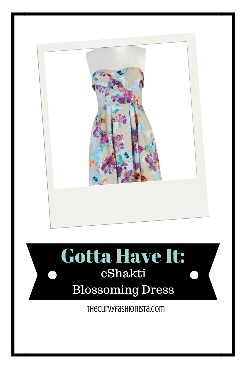 eShakti Blossoming Dress on The Curvy Fashionista