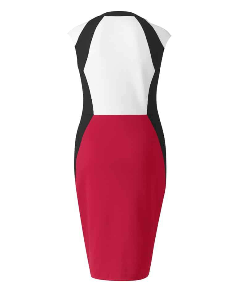 Simply Be Illusion Zip Front Dress on The Curvy Fashionista