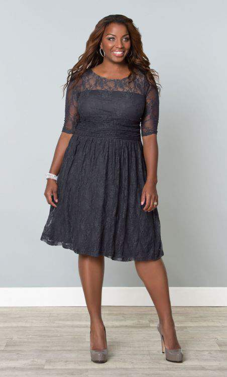 Kiyonna Luna Lace Plus SIze Dress