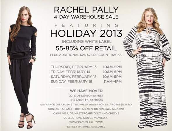 Rachel Pally White Label Warehouse Sample Sale- 02.13-02.16!