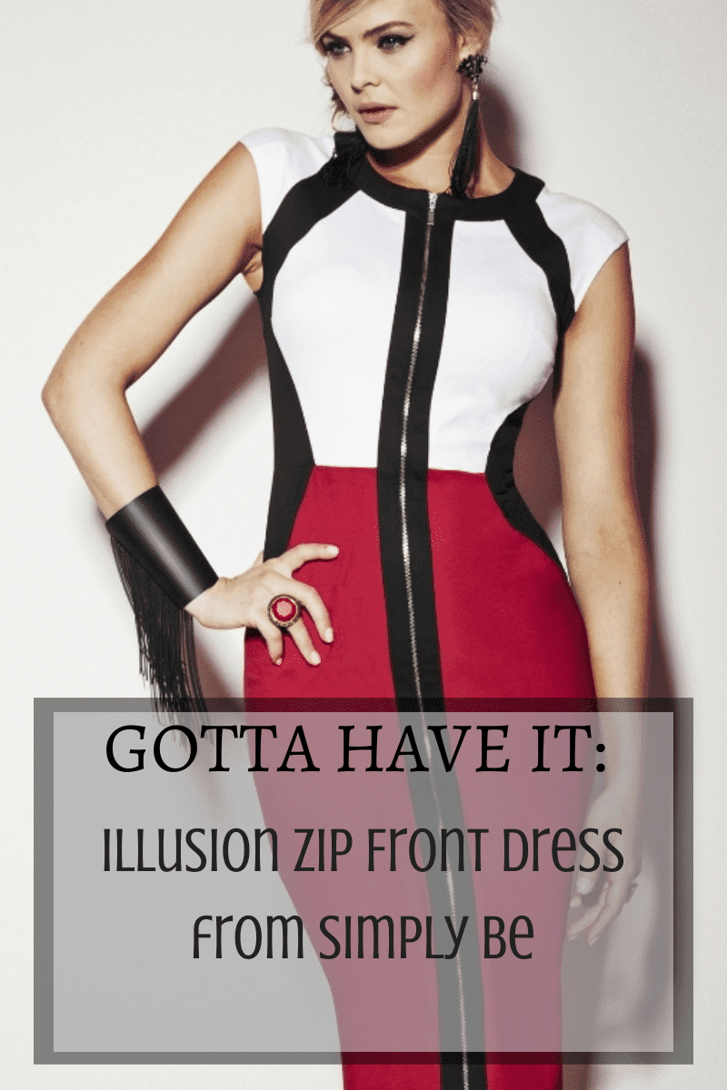 Illusion Zip Front Dress from Simply Be on The Curvy Fashionista