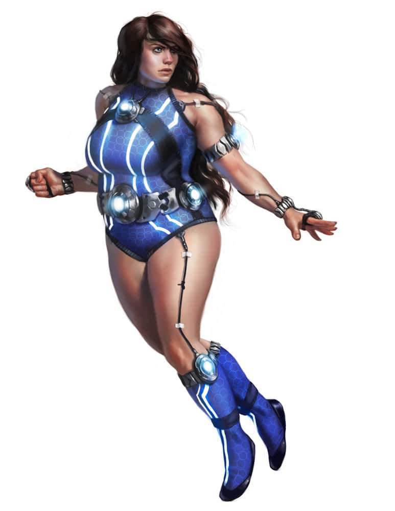 Plus Size Art: The Plus Size Superhero-Karen COnstantine by Rhineville on The Curvy Fashionista