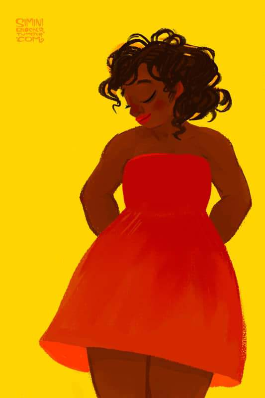 Plus size art by Simini Blocker on The Curvy Fashionista