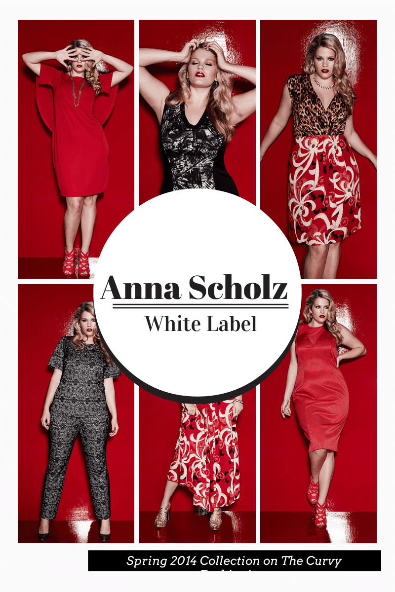 Plus Size Designer Anna Scholz Spring 2014 White Label Collection on The Curvy Fashionista