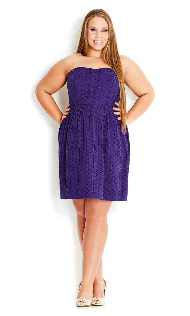City Chic Spring Dresses- Plus Size Tea Dress