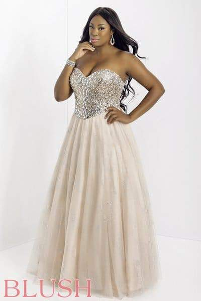 Curvy Fashionista Evening Dresses Blush Prom