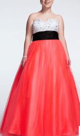 David's Bridal Sequin Gown