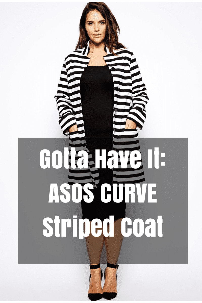 Gotta Have It: ASOS CURVE Striped Coat