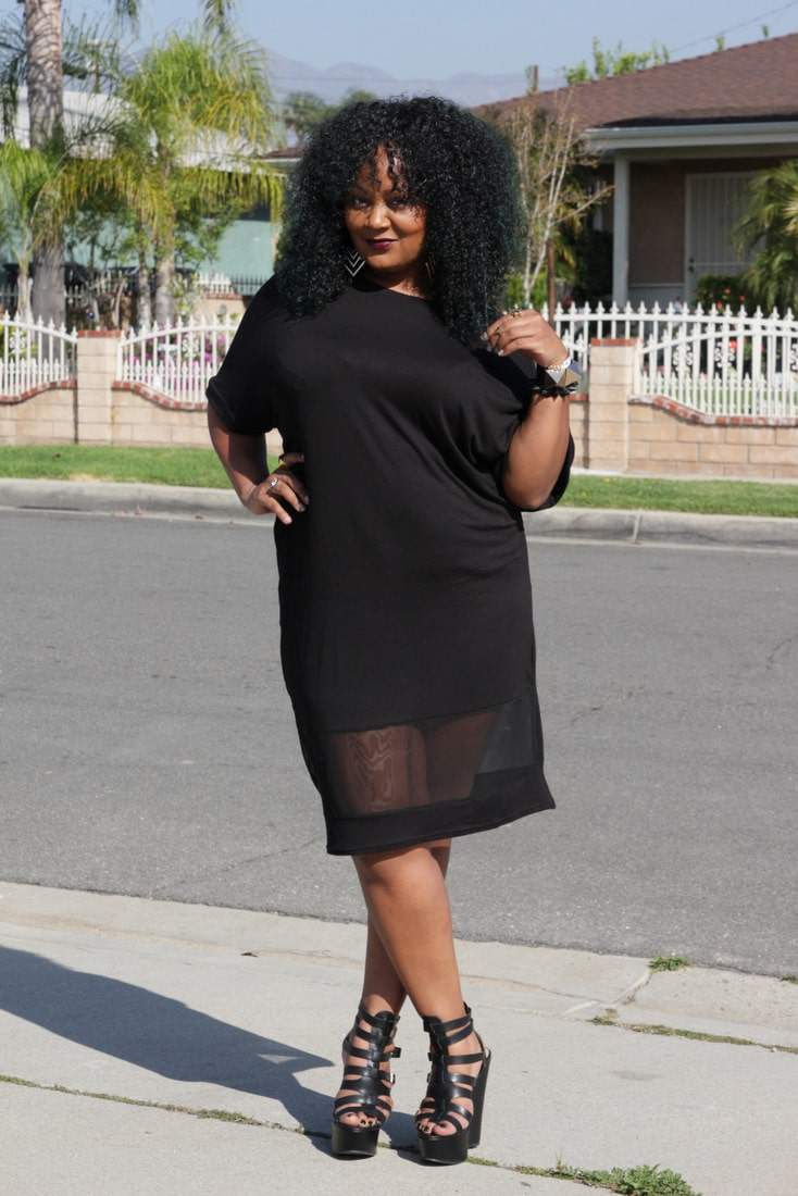 My Style: Chilling in my BooHoo Plus Size Midi T-Shirt Dress | The ...