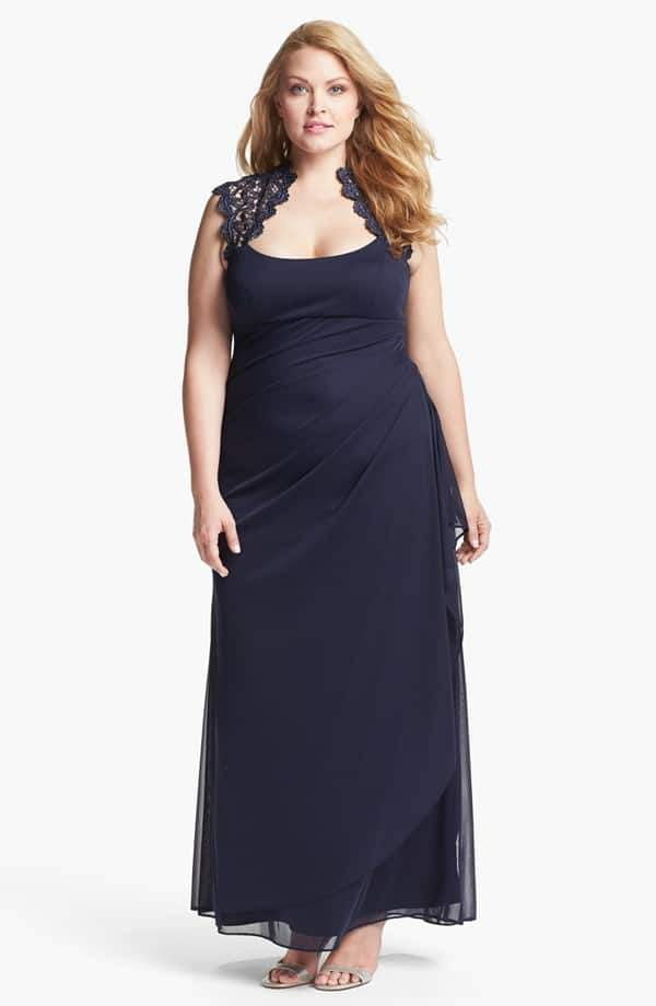 Xscape Lace Yoke Gown