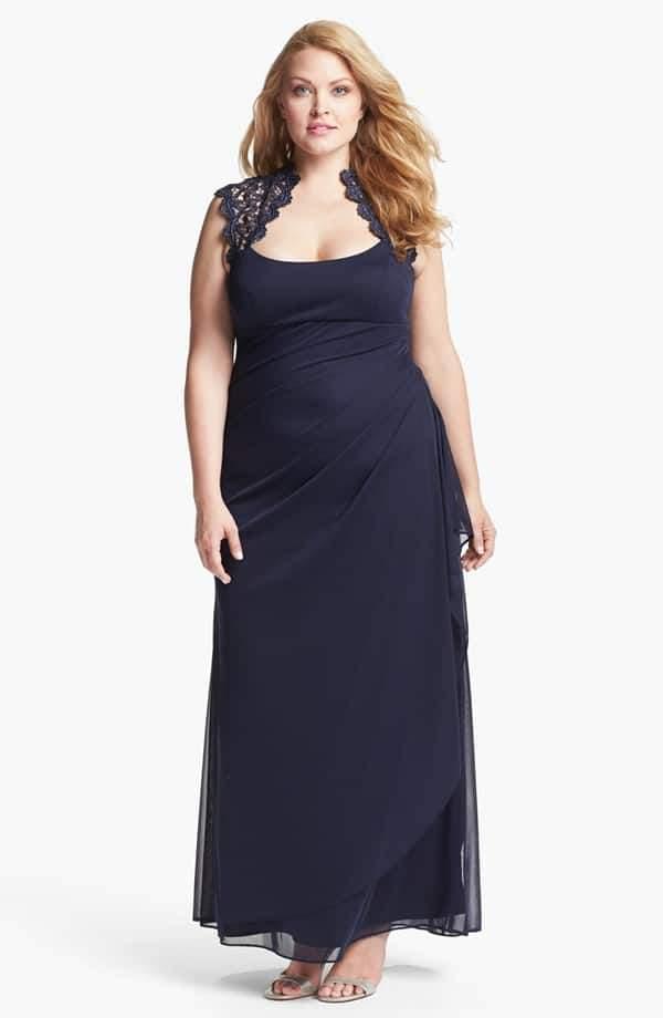 Xscape Lace Yoke Gown