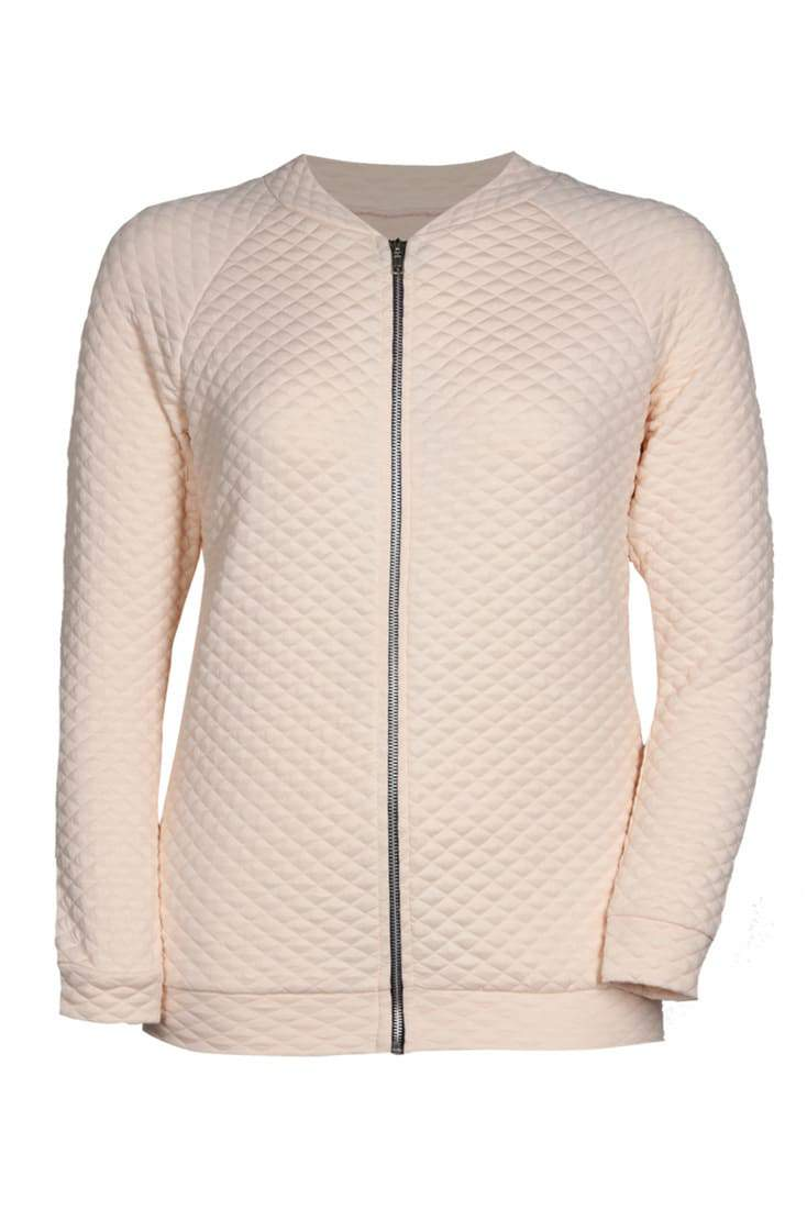 BooHoo Plus Sizes Collection on The Curvy Fashionista-  Pink waffle zip up