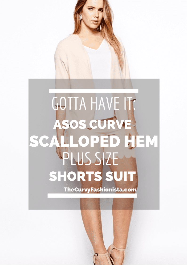 ASOS Curve Plus size shorts suit