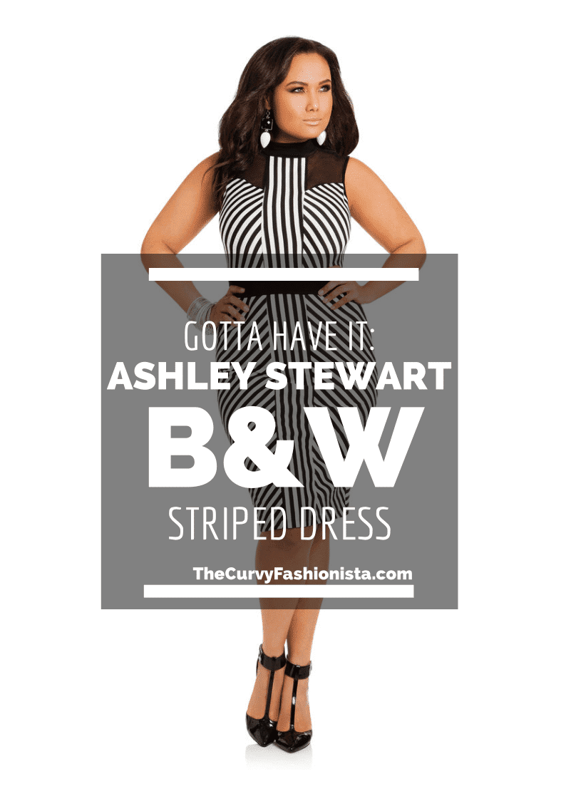 Ashely Stewart Black and White Striped Dress
