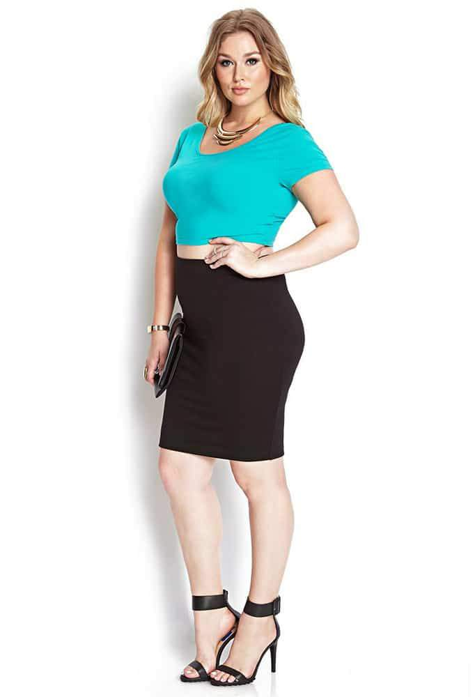 Classic Crop Top at Forever 21 Plus Sizes on The Curvy Fashionista
