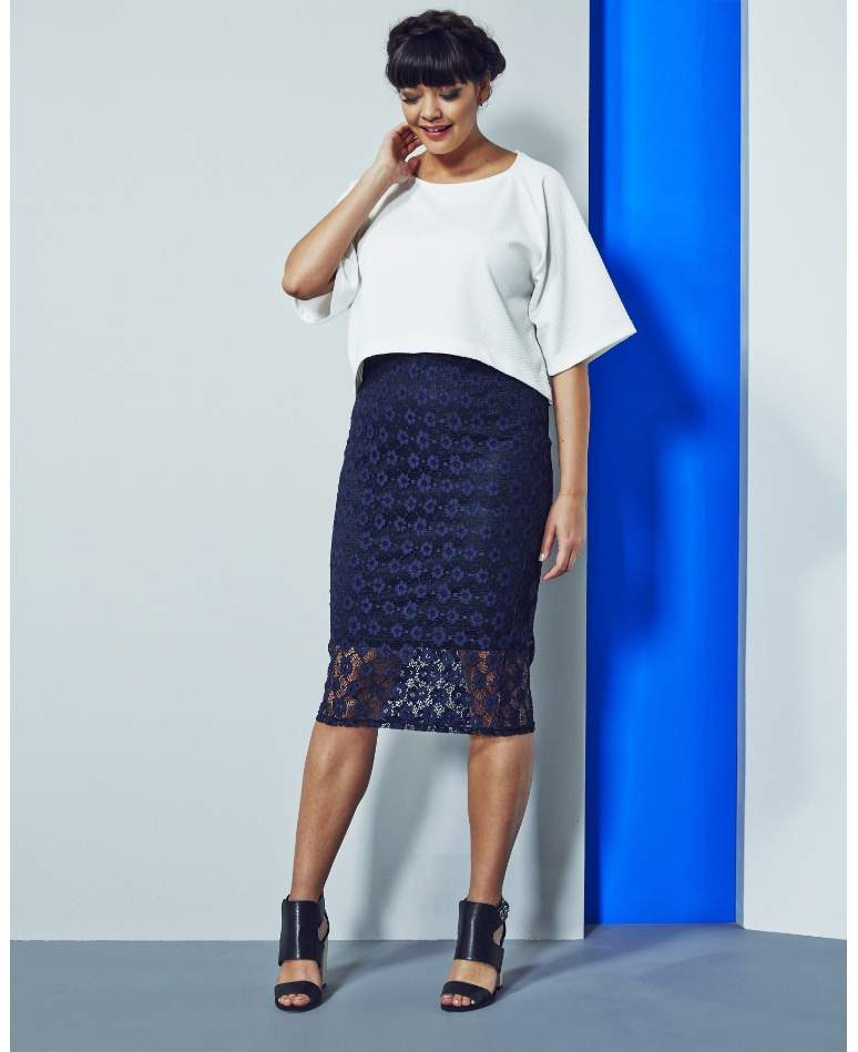 Cocoon Waffle Top at Simply Be on The Curvy Fashionista